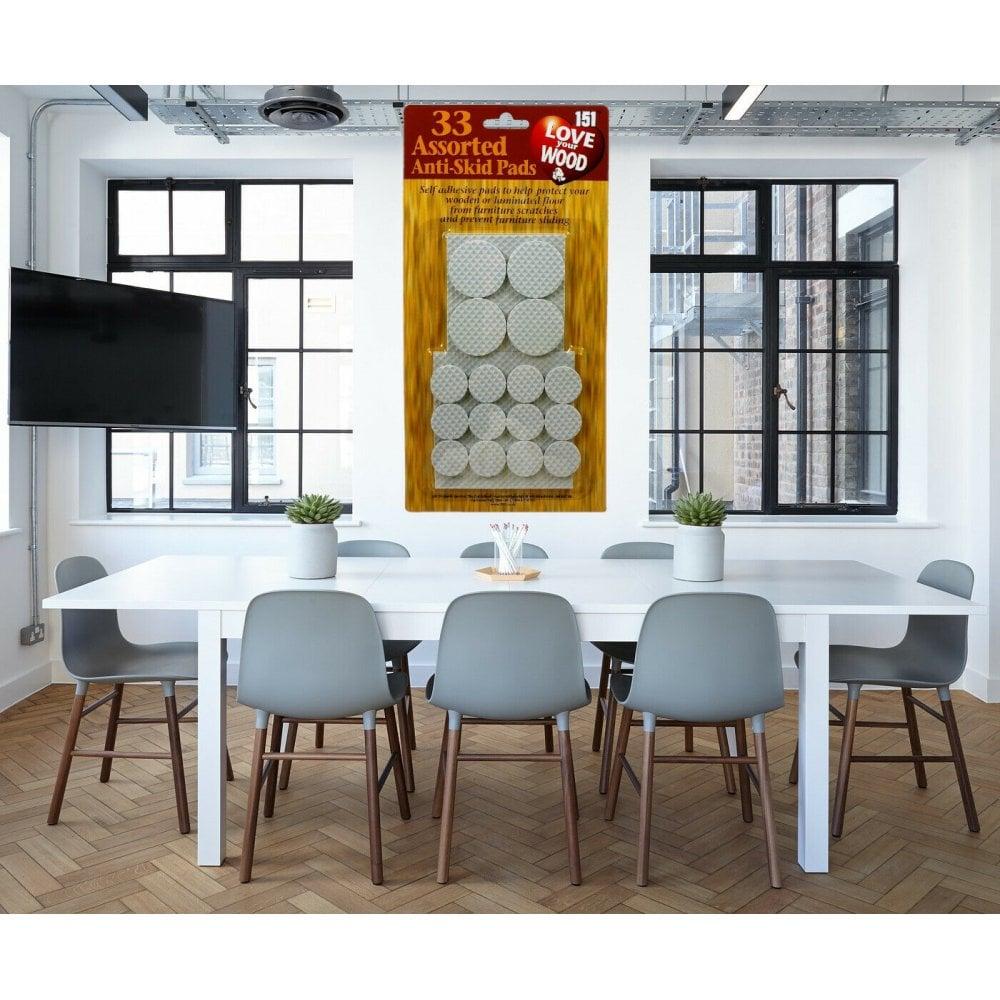 33 Anti Skid Pads Self Adhesive Furniture Scratch Protector Wood Floor Slip