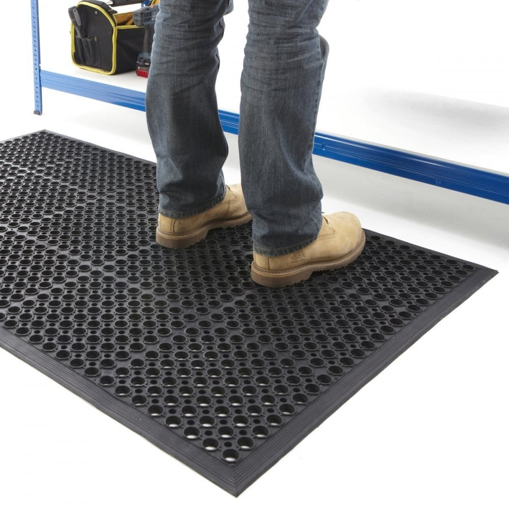 Heavy Duty Large Outdoor Entrance Mat Rubber Safety Mat Flooring