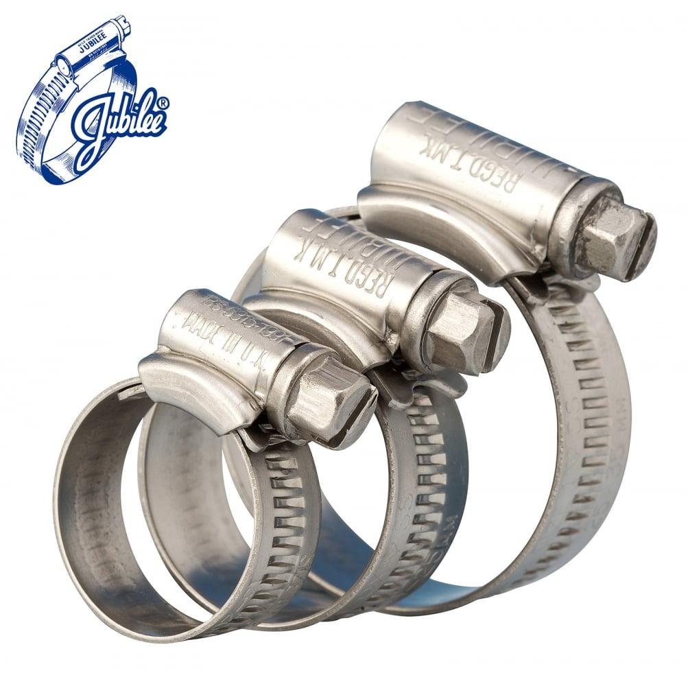 Premium Jubilee Hose Pipe Clips Stainless Steel Marine Grade SS316