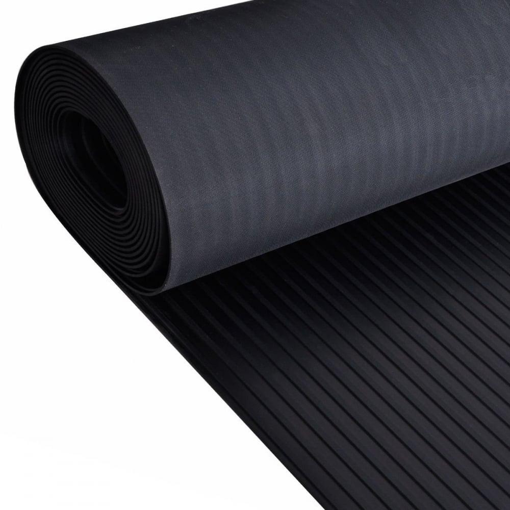Ribbed Black Anti Slip Shed Van Garage Workshop Rubber