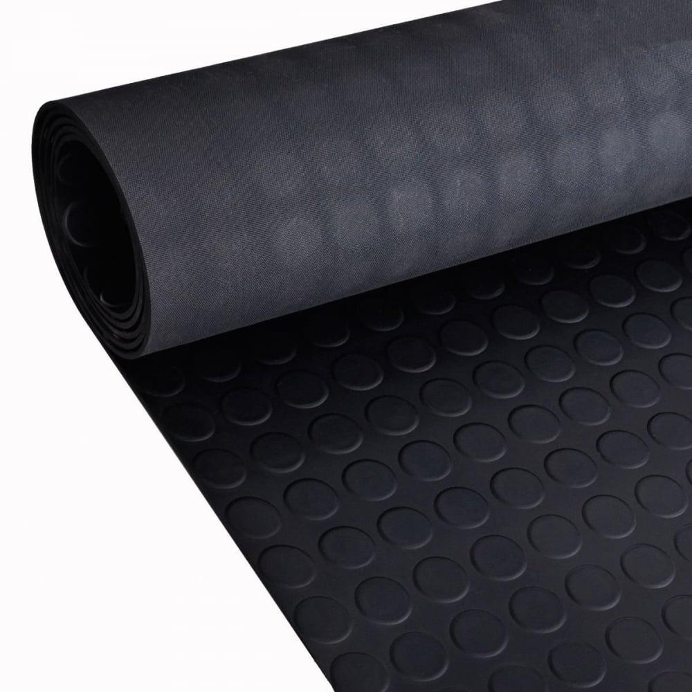 Studded Black Anti Slip Shed Van Garage Workshop Rubber