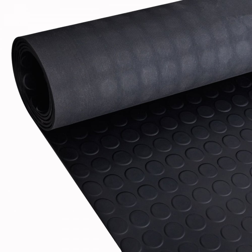 Studded Black Anti Slip Shed Van Garage Work Rubber Flooring Matting Roll 1 5m 4 92